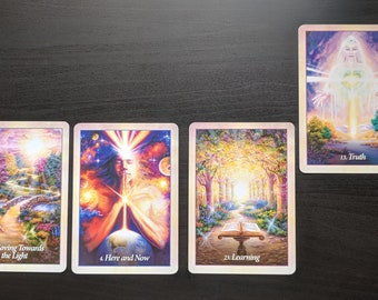 Past, Present, Future, and Outcome Oracle Card Psychic Reading, Connect with Angels and Spirit guides, Messages from above, Fast response