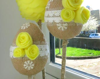 Easter Decoration, Easter centerpiece, Easter table decorations, Spring decoration, Easter egg, Felt egg decoration