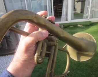 French Cornet Piston Antoine Courtois:wind instrument Music Copper.Trumpet-Horn-Trumpet Chaser Postman Germany-1862