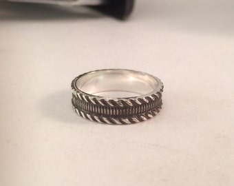 Sterling Silver stacker ring - size 7.25