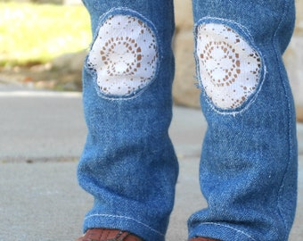 Denim Jeans w/ Lace for American Girl Dolls