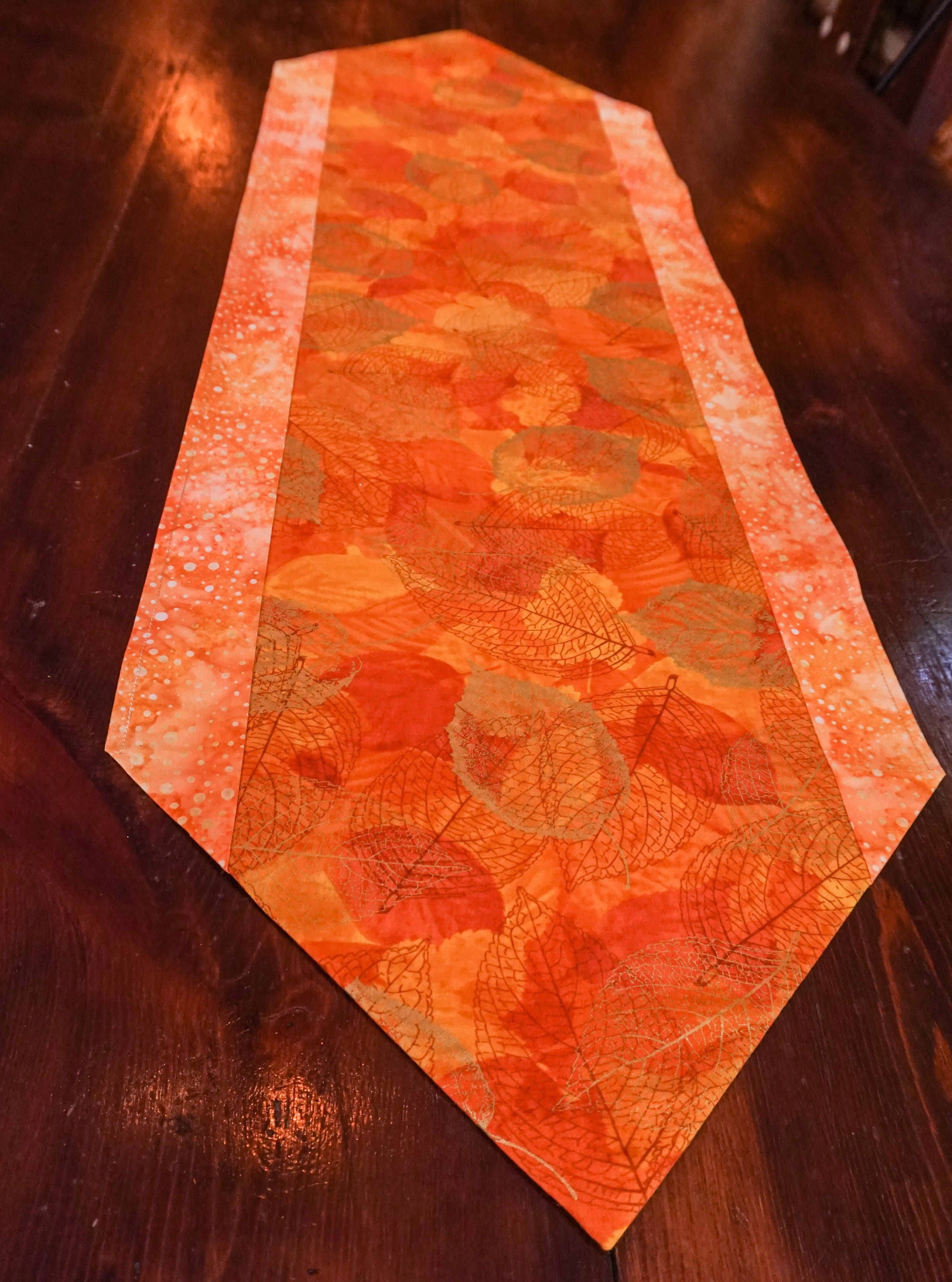 Metallic Gold Table Runner Rustic Decor Orange Decor Dining Room Decor Table  Linen Boho Home Decor Gift Lodge Decor Watercolor Home Decor