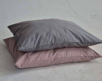Cushion, cotton, pillow, gray, dusty rose, white, light gray, home-decor