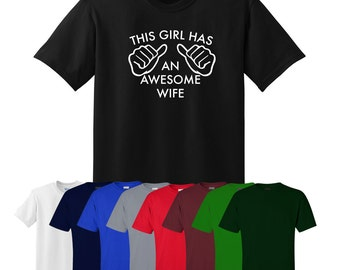 This Girl Has An Awesome Wife T-shirt Print Womens UK Ships Worldwide S-XXL