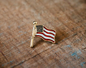 USA Flag Tac Pin Vintage Made in the USA