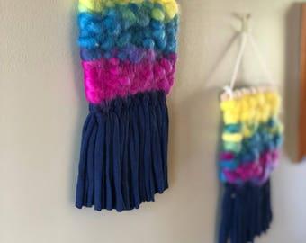 Rainbow tapestry wall hanging - mini.
