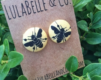 Busy Bee Button Earring