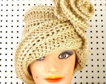 Crochet Hat Womens Hat Trendy,  Cloche Hat,  Crochet Flower,  Bone Hat,  African Hat,  Chapeau,  Ombretta Cloche Hat,  Formal Hat