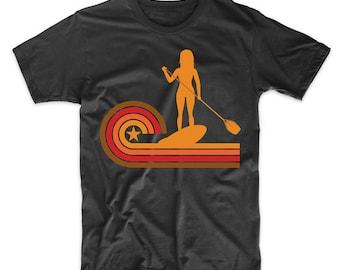 Retro Style Paddleboarder Vintage Paddleboarding T-Shirt
