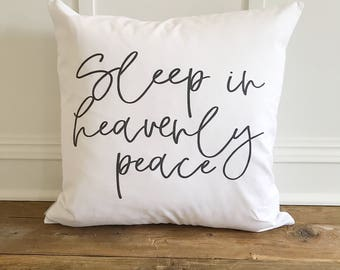Sleep in Heavenly Peace Pillow Cover