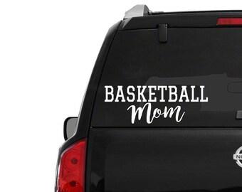 Basketball MOM • car window decal • fast shipping • 4 5 6 7 8 9 10