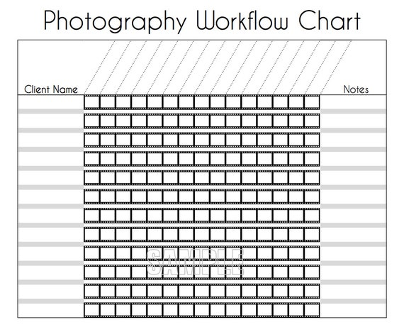 Photography Workflow Charts Set EDITABLE Printables
