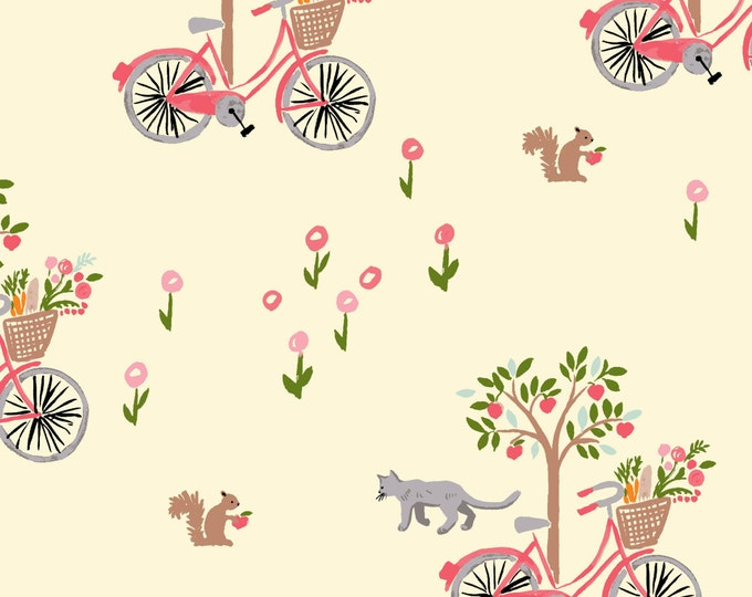 Organic DOUBLE GAUZE Fabric - Monaluna Bloom - Lazy Sunday Double Gauze