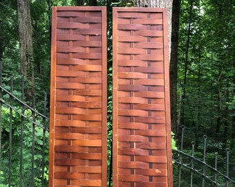 PAIR of Vintage Wood Panels