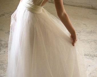 "SALE Royal Tulle Ballgown  ""Infinity"" Wedding Dress - Ivory"