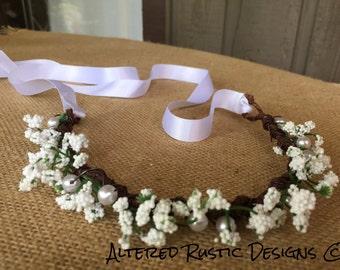 Bridal crown/ bridal headpiece/ floral brides crown/ crown for wedding/ wedding crown/ flower girl crown/ headpiece/ flower crown/bride hair