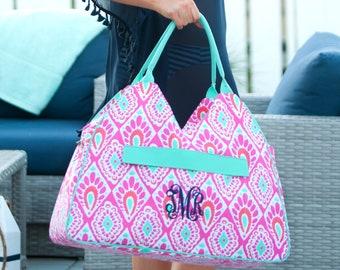 Beachy Keen Beach Bag - Beach Bag - Tote - Monogram Bag - Gifts For Her