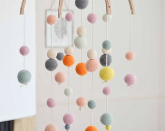 Baby mobile baby mobile - pastel various colors