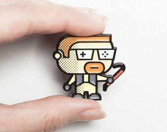 POPArt Pin – Gordon Freeman- HalfLife –  Unique Gaming Gift Idea - HalfLife - Gordon Freeman