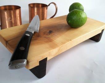Raised Natural ROCK MAPLE Bar Serving Board/Sushi