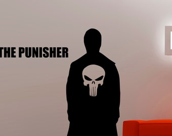 Punisher Wall Decal Superhero Stickers Home Interior Design Bedroom Wall art Murals Removable Stickers 2puzz
