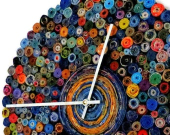 Unique Wall Clock, Paper Wall Clock,  Eco Home Decor,  Decor and Housewares,  Home and Living