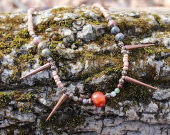 Agate Spike Necklace