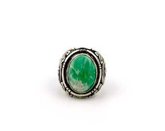 The Great Wave Ring with Green Variscite by Turquoise Kingdom // Japanese Hokusai Inspired Sterling Silver Ring
