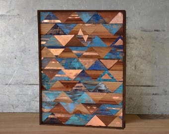 Copper and wood wall art, copper and reclaimed wood, reclaimed wood wall art, reclaimed wood and metal art, Copper wall art, metal wall art