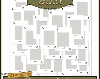 Playing Cards Layout Template for Digital Scrapbooking