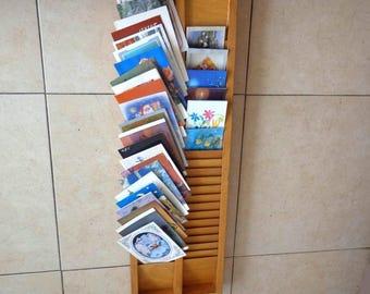 Old Vintage Wood Mail Storage Organizer. Vintage Wooden Box Tray Organizer. Home Decor, Kitchen Decor, Farmhouse, Home Organization.