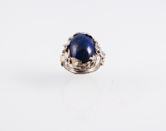 Lapis Wonderland Ring - in recycled silver