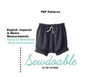 Shortie PDF Pattern 3/6M- 4Y