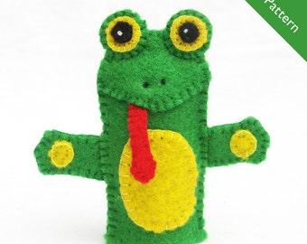 Pattern, finger puppet pattern, frog finger puppet pattern
