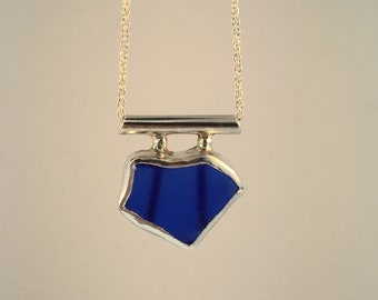 Sterling Silver Custom Sea Glass Pendant