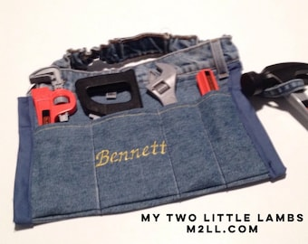 Childs tool belt, Little Boys Tool Belt, toddler tool belt, kids tool belt