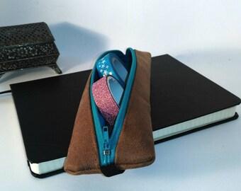 Petite trousse en cuir pour carnet A5 type Bullet Journal