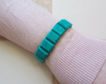 Bracelet made of natural stone from turquoise