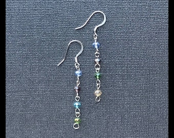 Bead Chain Dangle Earrings