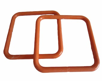 "5"" Square Vintage Plastic Shoulderbag Purse Handles"