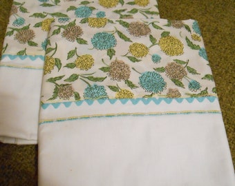 Vintage floral pillowcases never used