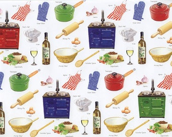 Kitchen utensils-gift wrapping paper from England