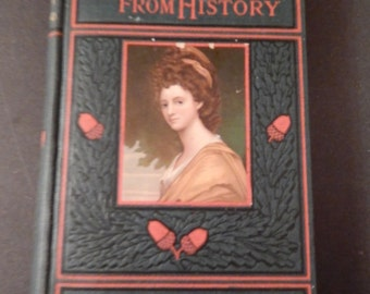 Antique . Victorian Book - Stories From History - Agnes Strickland