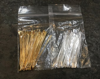 DESTASH LOTS Paddle head pins in gold and silver finish Package of two