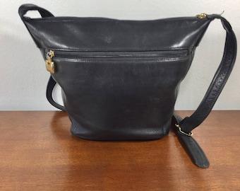 Jacqueline Ferrar, Black Leather Purse, Bag, Shoulder Bag