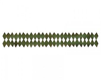 Sizzix Tim Holtz Alterations Decorative Strip Die - Harlequin Border 657825