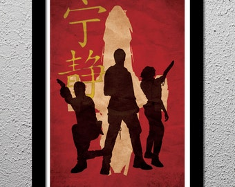 Firefly Serenity Captain Malcolm Reynolds Crew - Original Minimalist Art Poster Print