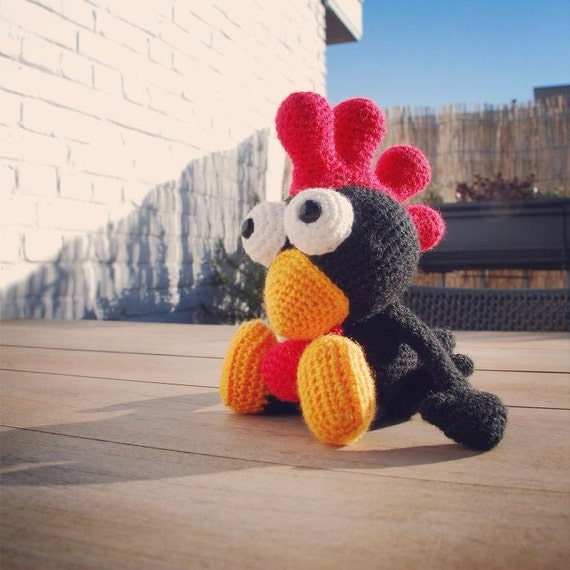 Amigurumi Pattern Black Rooster From Dendennis On Etsy Studio