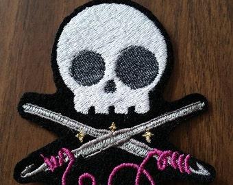 Crochet skull patch