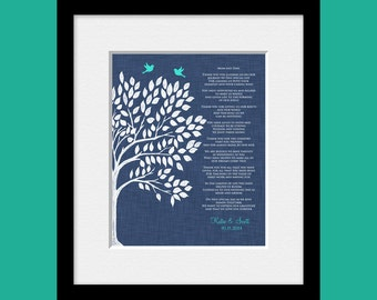 Thank You Poem for Your Parents, Wedding Day Poem for Parents, Parent's Thank You Gift, Bride's Parent's Gift, Groom's Parent's Gift
